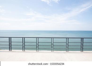 terrace at resort and seascape view at Ko Proet in Chantaburi Thailand .