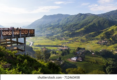 Terrace rice field and mountain view, Sapa, Vietnam Vietnam landscapes.