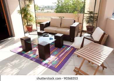 terrace with sofa seat