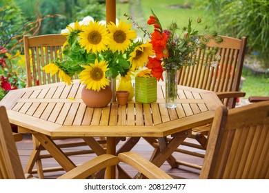 Terrace in summer