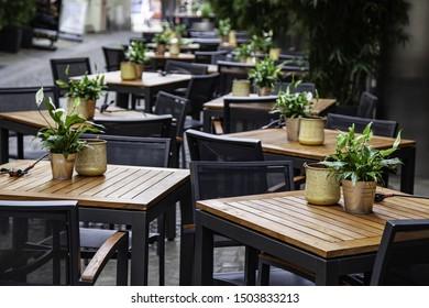 Imágenes Fotos De Stock Y Vectores Sobre Cena En La Terraza