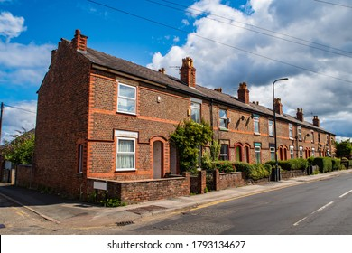 Terraced houses in Manchester, United Kingdom