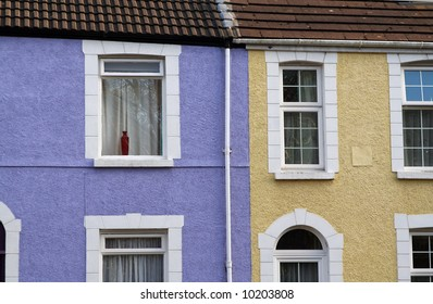 terraced houses, typical british