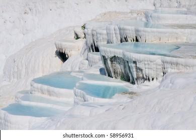 terraces of carbonate minerals