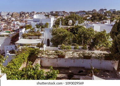 The terraces of the Tangiers's medina, North of Morocco