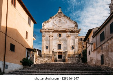 Terracina, Italy. Church Of Purgatory In Baroque Style Built On Site Of Church Of St. Nicholas.