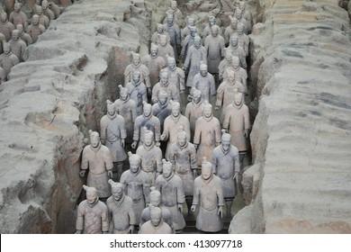 Terracotta army, China, Xian, China.
