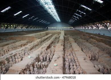Terracotta Army in Xian, China.