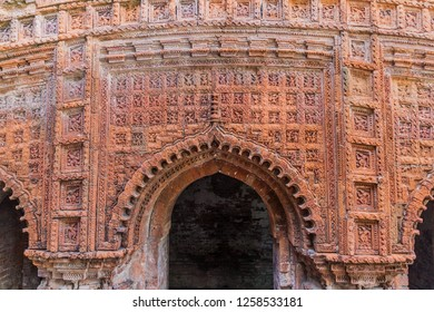 Terracotta panels at Govinda temple in Puthia village, Bangladesh