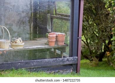 Terracotta pots baskets outhouse scotland
