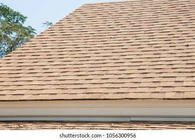 Terracotta roof tiles background
