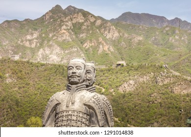Terracotta soldier sculptures on Great Wall, Beijing, China