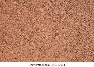 terracotta stucco wall
