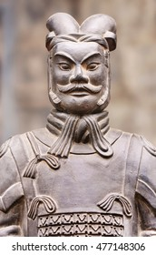 Terracotta warrior sculpture ona market, Xian, China