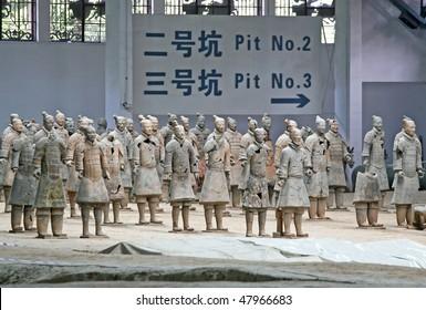 Terracotta warriors (Xian, China)