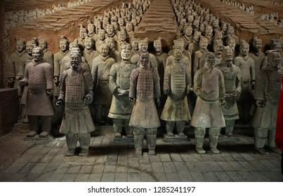 terracotta warriors, xian - china -  Desember 17, 2018