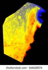 Terrain digital elevation model