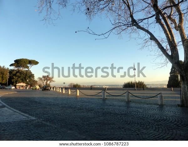Terrazza Del Gianicolo Rome Italy Stock Photo Edit Now