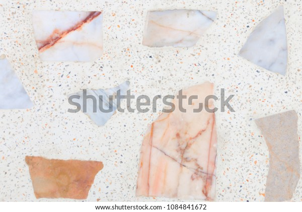terrazzo flooring or polished stone pattern wall and color surface marble vintage texture old for background image horizontal