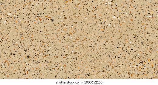 Terrazzo flooring seamless pattern. Texture of mosaic floor with natural stones, granite, marble, quartz, mosaic. Classic Italian floor surface. Trendy repeat design for ceramic, home decor, print.