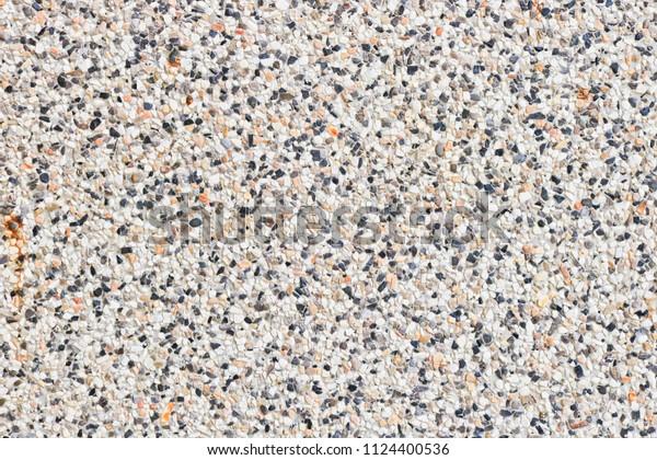 Terrazzo Flooring Texture Polished Stone Pattern Stock Photo