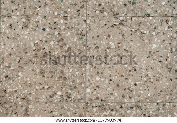 Terrazzo Flooring Texture Tile Polished Stone Stock Photo