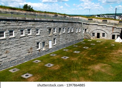 The terreplein at Fort Knox in Prospect, Maine