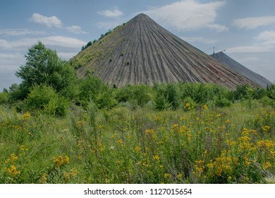 Terrikon-slag waste at coal mining in the mine, Ukraine, Donbass