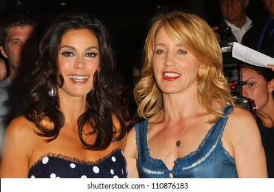 Terry Hatcher and Felicity Huffman at a party to celebrate Badgley Mischka's New Campaign Featuring Teri Hatcher. One Sunset Restaurant, West Hollywood, CA. 08-27-07