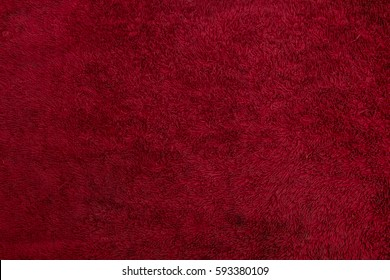 terry texture of red fabric
