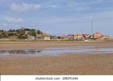TERSCHELLING, NETHERLANDS - 27th of July 2014:Beach in West-Terschelling on 27th of July 2014 in TERSCHELLING, NETHERLANDS