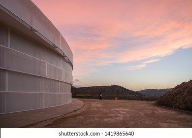 TERUEL SPÀIN-AUGUST 10, 2018: Galactica is a new Astronomy observatory located in Arcos de Las Salinas Spain