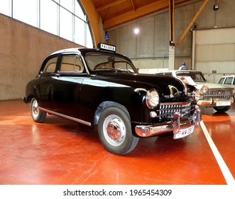 TERUEL, SPAIN - 05 MAY 2017, Vehicle type Z, Seat 1400 B, first models used by the police in 1957
