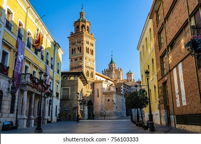 TERUEL, SPAIN - JANUARY 8, 2017: Mudejar style Cathedral in Teruel in Aragon County, Spain