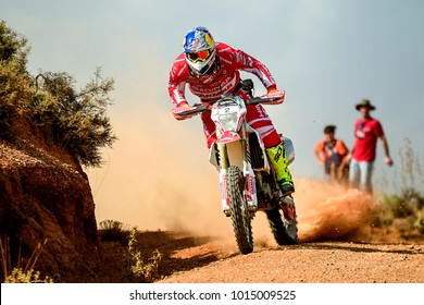 TERUEL, SPAIN - JUL 22 : Spanish rider Ivan Cervantes in a KTM EXC 450 races in the XXXIV Baja Spain, on Jul 22, 2017 in Teruel, Spain.