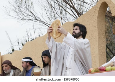 Teruel, Spain.- March 29 2013. Theatrical representation of the passion death of Jesus Christ that takes place in the village of Alcorisa, every Good Friday by people of the village.