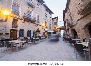TERUEL SPAIN ON MAY 2018: La Fresneda is one of the most beautiful villages in Spain Teruel Aragon Spain Matarranya county