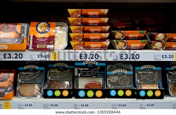 Tesco Supermarket Hove England 2019 Vegetarian Stock Photo