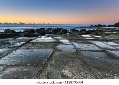 Tessellated Pavement Seascape - Capturing the sunrise from Forresters Beach on the Central Coast, NSW, Australia.
