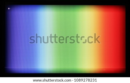 Test Chart Color Tv Shot On Stock Photo Edit Now 1089278231