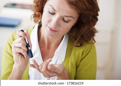 Test For Diabetes, Woman