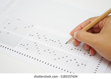 test form with pencil