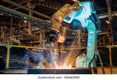 Test run robot welding