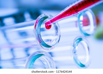 Test tubes closeup.medical glassware