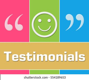 Testimonials Colorful Grid