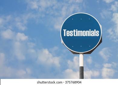Testimonials Sign
