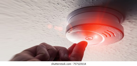 Testing Domestic Home Smoke Alarm detector