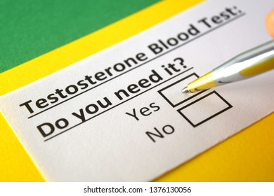 Testosterone blood Test: Do you need it? yes or no