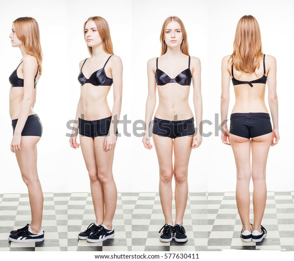 Tests Snaps Modeling Agencies Fashion Model Stock Photo