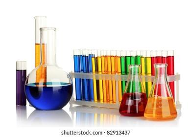 Test-tubes isolated on white
